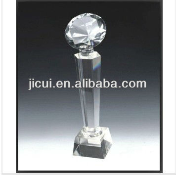 crystal diamond shape trophy