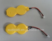 cmos cr2032 2pcs batteries with lead cable & connector