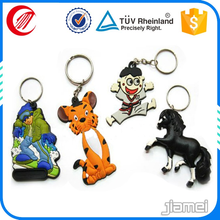 2d/ 3d Promotional all types of soft pvc rubber keychain 2016