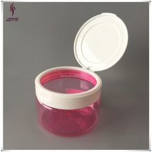 250ml PET plastic pink flip top cosmetic jars for cream