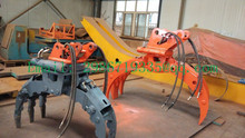 Excavator log grab, rotating orange peel grab for tractor/excavator