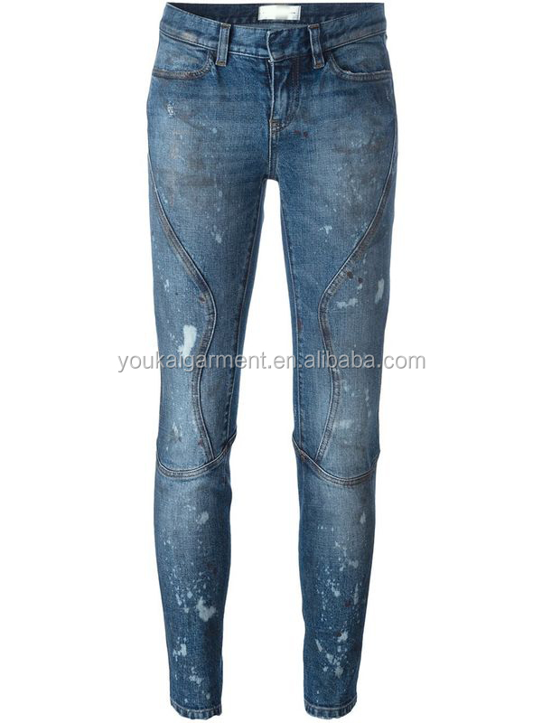 ladies clothes manufacturer vintage jeans ripped skinny new model biker denim pants for women