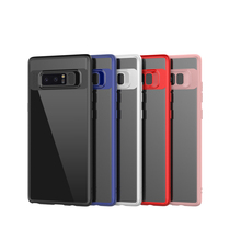 Shockproof case cover for samsung galaxy note 8 soft 2 in 1 TPU PC protective case cover for samsung galaxy note 8