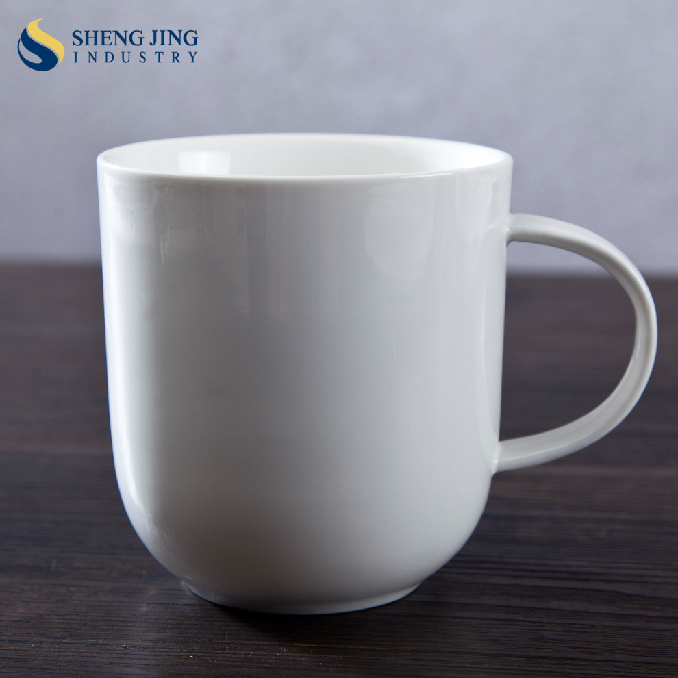 Custom Logo Coffee Tea Ceramic <strong>Cup</strong> 370cc/ 370ml / 13oz White Porcelain Mug