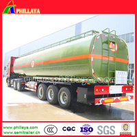 3axles 50cbm Hydrochlor Acid Fuel Tanker