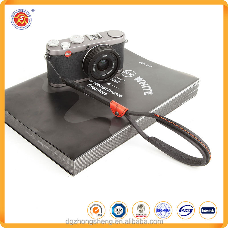 New design real leather digital camera wrist hand strap with customized logo