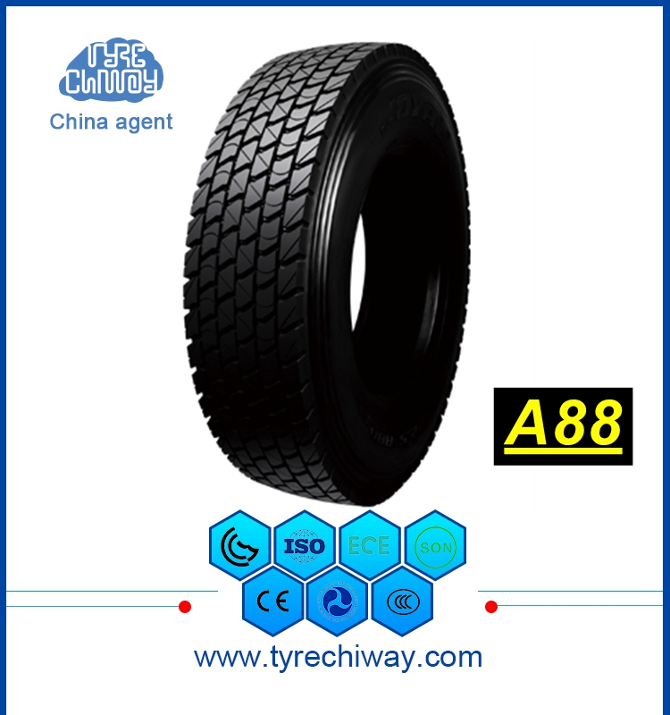 A88 12r22.5 tubeless tyre price anti puncture truck tyre