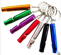 EDC Outdoor Key Chain Survival Whistle Top Quality Aluminum Whistle Camping Climbing Hiking Sports Training Whistles