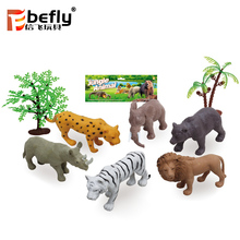 2018 wildlife model set toy hollow plastic animal figurines for kids