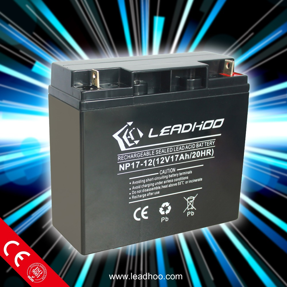 Professional Storage Rechargeable Electric Bike Battery 12V17AH
