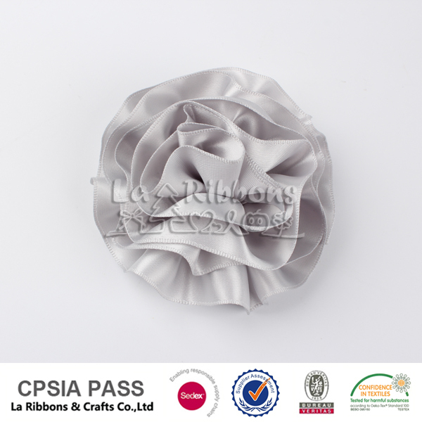 Dress satin ribbon handmade flowers for garment accessories