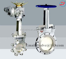 knife gate valve with pneumatic actuator rising stem gate valve