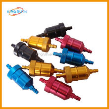 Brightly-colored motorcycle oil filter machine