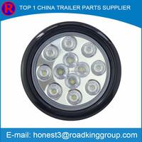 Custom ABS+PVC CE 24/12V/10-30V F5 round led light kits for trucks