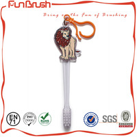 2016 new design (FunBrush Safari Animals-Lion) Non-Toxic Epoxy Painted Kids Animals Toothbrush Non-Toxic Epoxy Painted Color Cha