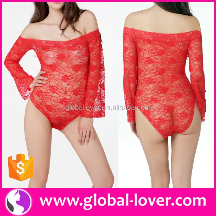 Wholesale hot red mini nightwear lace babydoll sexy images of girls without clothes