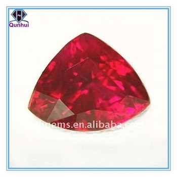 charming triangle shaped ruby corundum