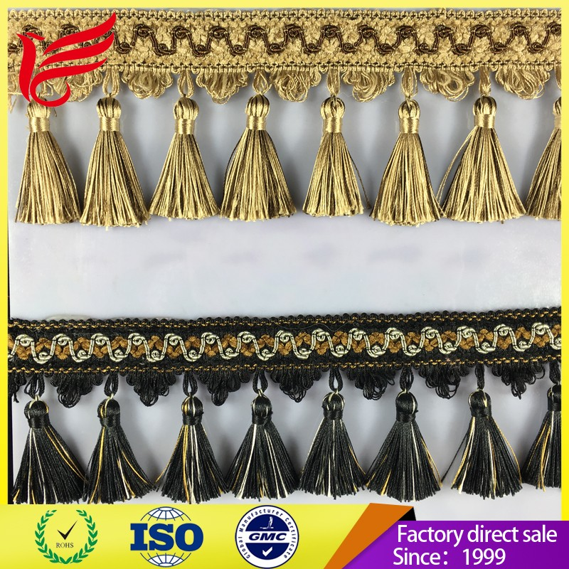 2017 Factory wholesale High quality Europe Fashion Curtain Tassel Fringe