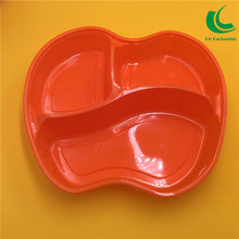 Food packaging containers plastic clear disposable lunch box apple shaped 3 compartment eco friendly factory price
