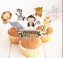 Cute cartoon cake inserted card decoration cupcake card glass decoration with a toothpick inserted sign 24
