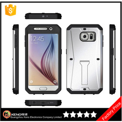 Cheap mobile phone case For Samsung Galaxy S6 3 in 1 PC+TPU Waterproof Armored back cover case