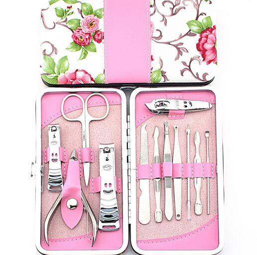 Fancy model popular Pu frame manicure pedicure tools and materials