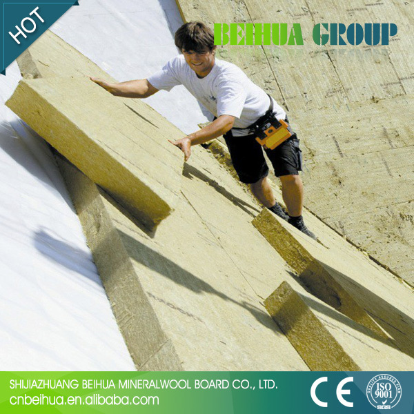 Fireproof A1 Grade Rock Wool Panel For Roof And Wall