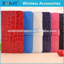 Fashionable Mobile Phone Wallet Cover Crocodile Leather Case For Blackberry Z10