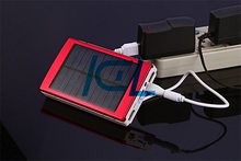 cell phone accessories made-in china, 13000mAh solar power bank, 2.1A output solar power bank