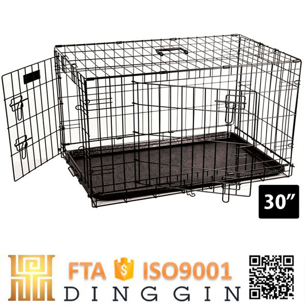 Cheap folding stainless steel dog cage