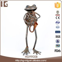 Hot sell frog shaped famous metal art sculpture