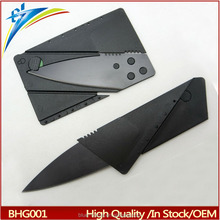 Wholesale folding credit card knife Cheap Plastic handle stainless card knife