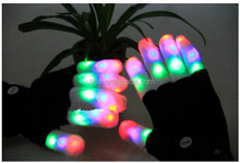 LED Black Gloves Multicolor (Finger Light)
