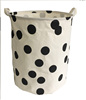 best selling products in Polyester cotton canvas folding laundrybasket foldable fabric Laundry Basket