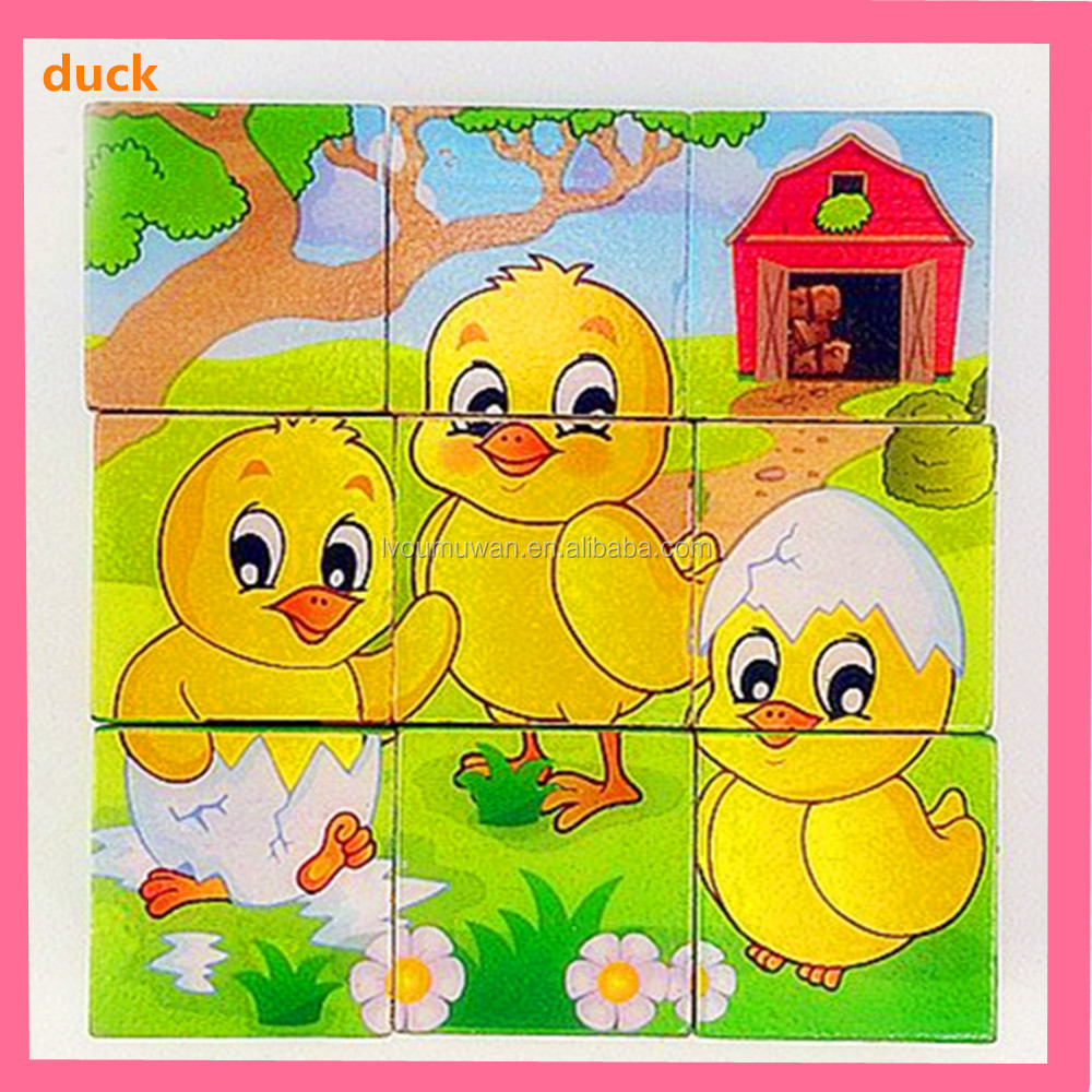 3d educational animals wooden puzzle for kids
