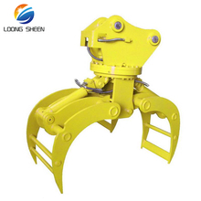 excavator hydraulic rotating log grapple timber grab for forestry work