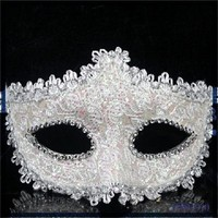 Best Selling White Half Face Lace Crystal Mask Brand Sex Eye Halloween Party Mask