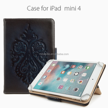 New Arrival For iPad Mini 4 Case, Top Quality Genuine Leather Case for iPad Mini 4