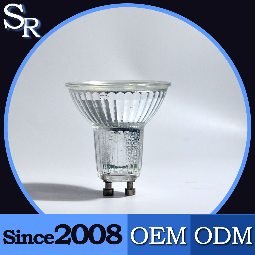 dimmable 5w led spotlight gu10 glass lamp