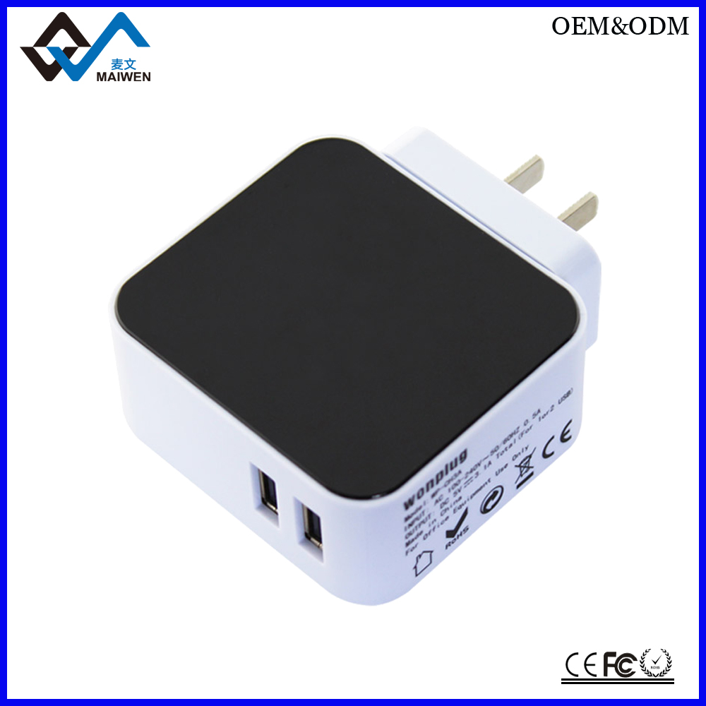 Portable CE Approved 5V 2.1A USB Adapter Charger with 4 usb port
