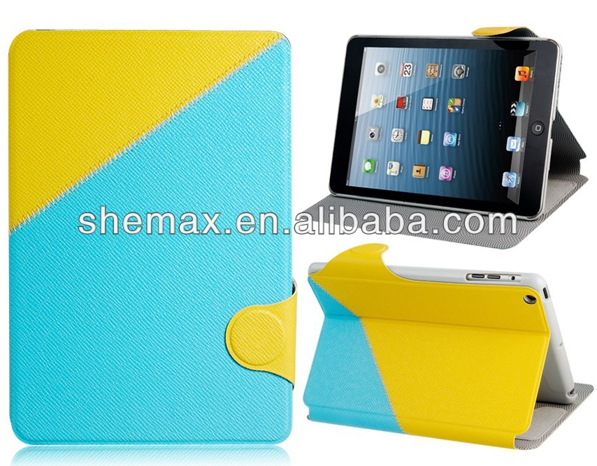 Look here! Multifunction case for ipad mini with automatic sleep system and loud speaker