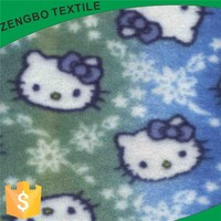 cats polar fleece FABRIC printed for make orders
