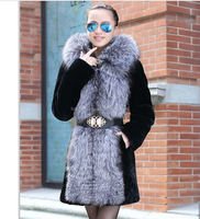 Genuine Fur fake fur coat