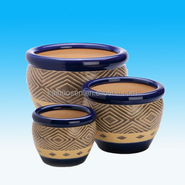 Hot Sale Outdoor Glazed Ceramic Garden Planter Plant Flower Pot