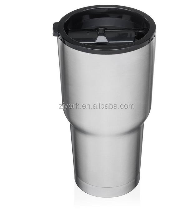 black /dark grey color lid with 30oz stainless steel beer tumbler/thermos cup/vacum flask