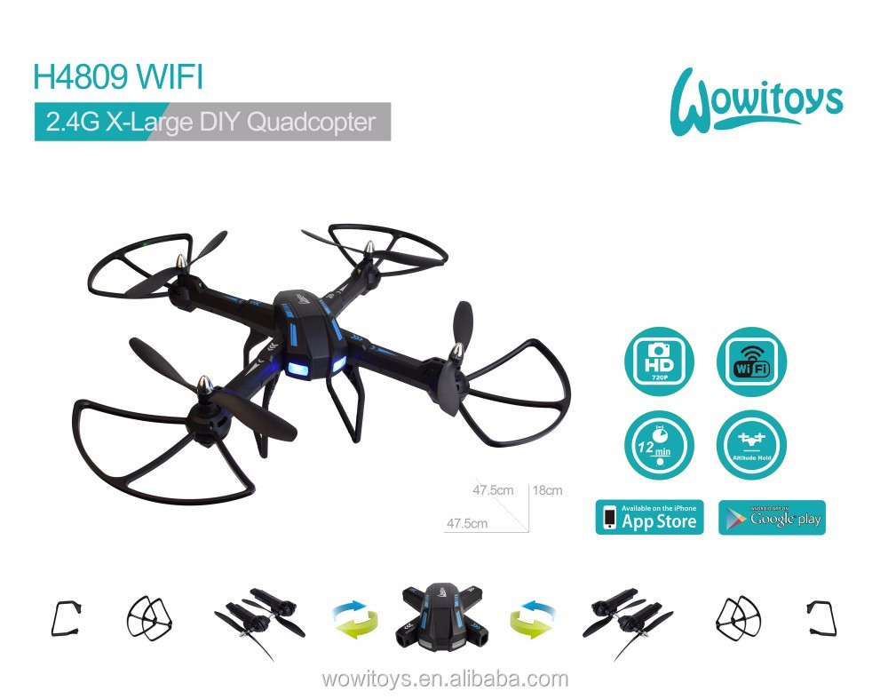 WiFi DIY drone with 1080P with HD servo camera and FPV drone and GPS drone, altitude hold, headless