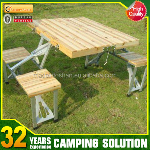 camping portable folding dining wooden table
