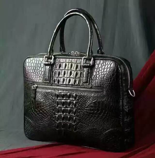 Custom Crocodile Leather Handbag Designer Nice Bags For Male