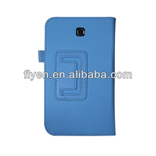 New FOLD lichi pattern Leather Stand Case Cover For Samsung Galaxy Tab 3 7.0 T210 P3200 VANTECH