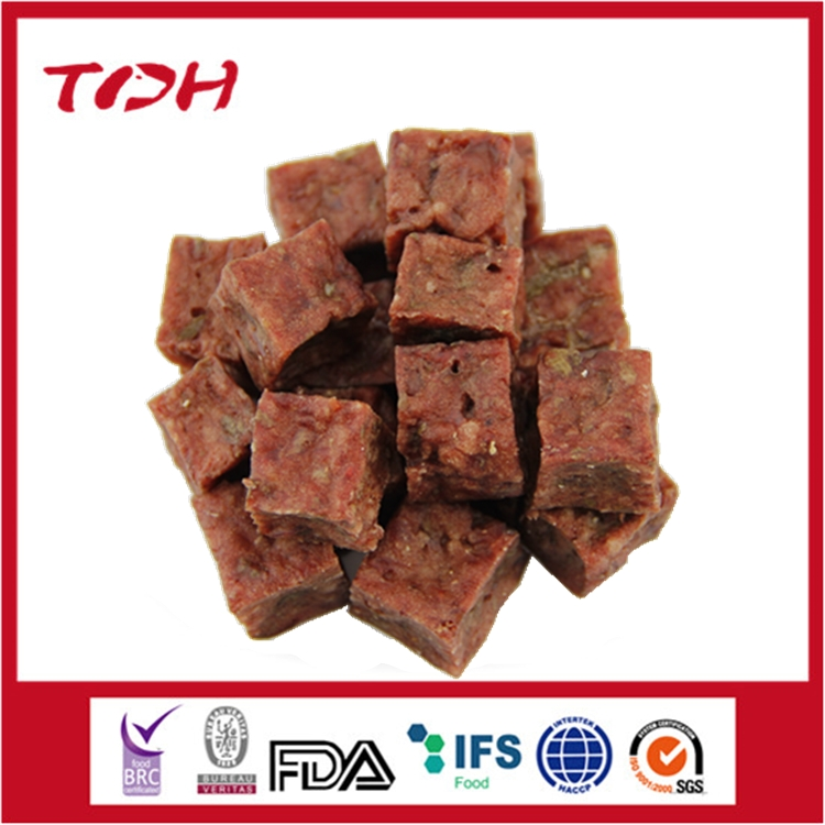 Health Food Mutton/Beef Cube For dog pet food direct From Pet food factory